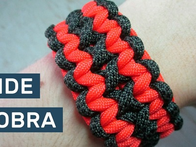 How to make the Double Wide Cobra Paracord Survival Bracelet