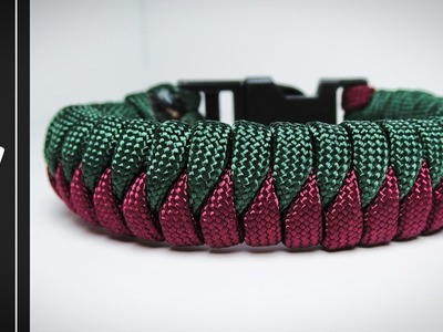 How to make The Snake Knot Viceroy Paracord Survival Bracelet With Buckle [Tutorial]