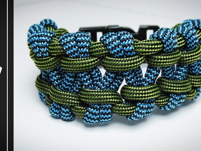 How to make the Switchback Path Bar Paracord Survival Bracelet With Buckle [Tutorial]