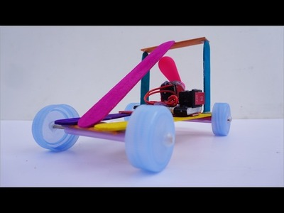 How To Make Toys Air Car From DC Motor - Power Car DIY For Kids