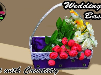 HOW TO MAKE : Wedding basket | DIY | Art with Creativity 169