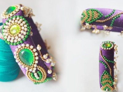 How to make wedding special thread bangles at home step by step tutorials | zooltv