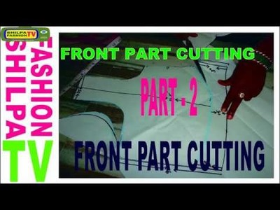 How to measure and cut simple blouse PART-2.latest easy blouse cutting OF front pattern 2017 ENGLISH