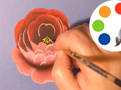How to paint a Rose, paint a flower, irishkalia