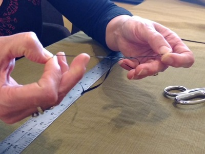How to split synthetic sinew from Saami Supplies.