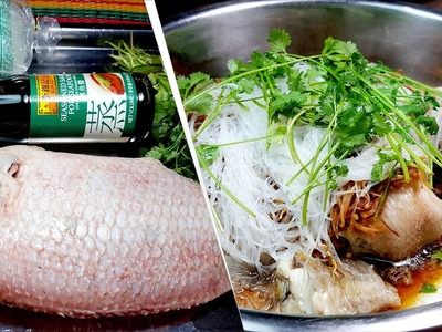 How to STEAM BIG FISH SEASONED SAUCE | Khmer Cooking Food Recipes, Yummy Yummy