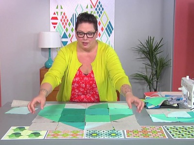 How to use templates to create contemporary curves on Fresh Quilting with Jen Carlton-Bailly (103-1)