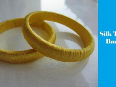 How to wrap Silk Thread on a Bangle | Silk Thread Art | DIY