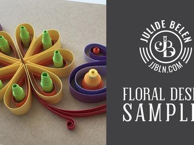 JJBLN | How to Make a Sample Floral Quilling Design