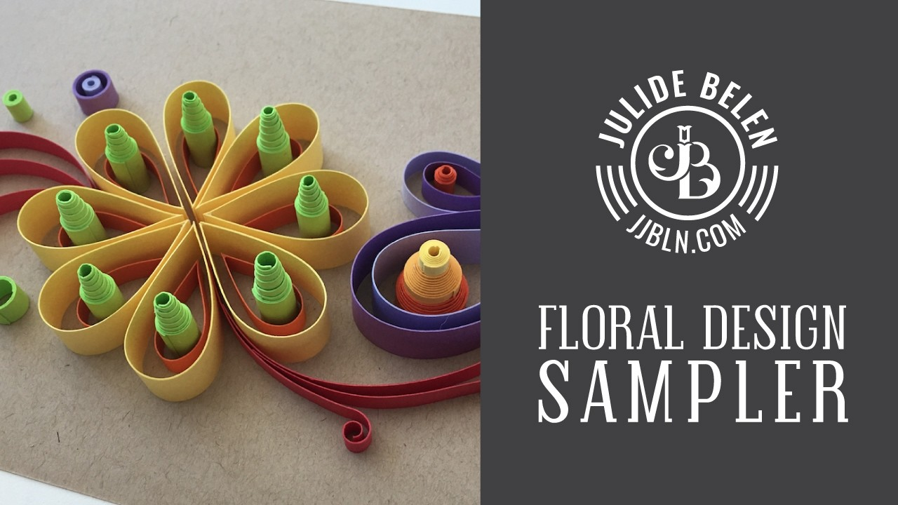 Jjbln how to make a sample floral quilling design for Quilling designs how to make