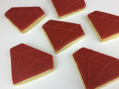 Learn How To Make RED RUBY Cookies!