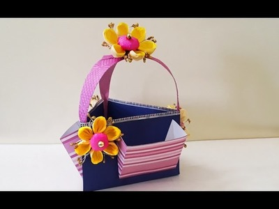 Learn How to Make Unique DIY Paper Basket | Handmade Gift Basket | StylEnrich