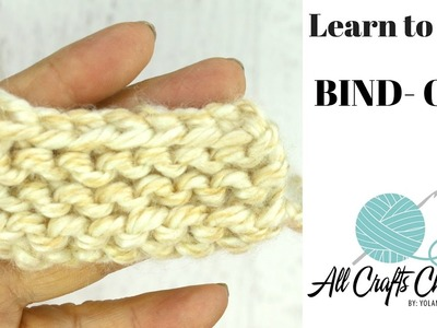 Learn to Knit Easy  knit Bind Off