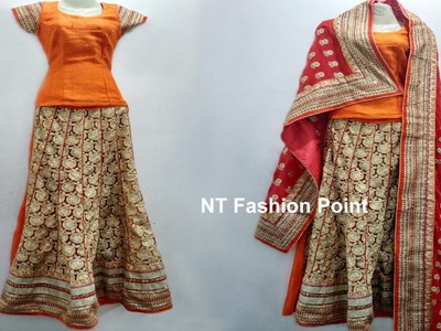 Learning how to make designs lehenga measurement, cutting & stitching (DIY-1) ▶▶ NT Fashion Point