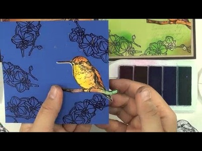 Local King Rubber Stamp Tutorial #58 How to make your image pop with beautiful colour on solid darke