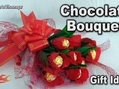 Mother's Day Gift Idea | DIY How to make Chocolate Bouquet |  Ferrero Rocher Bouquet | JK Arts 1188