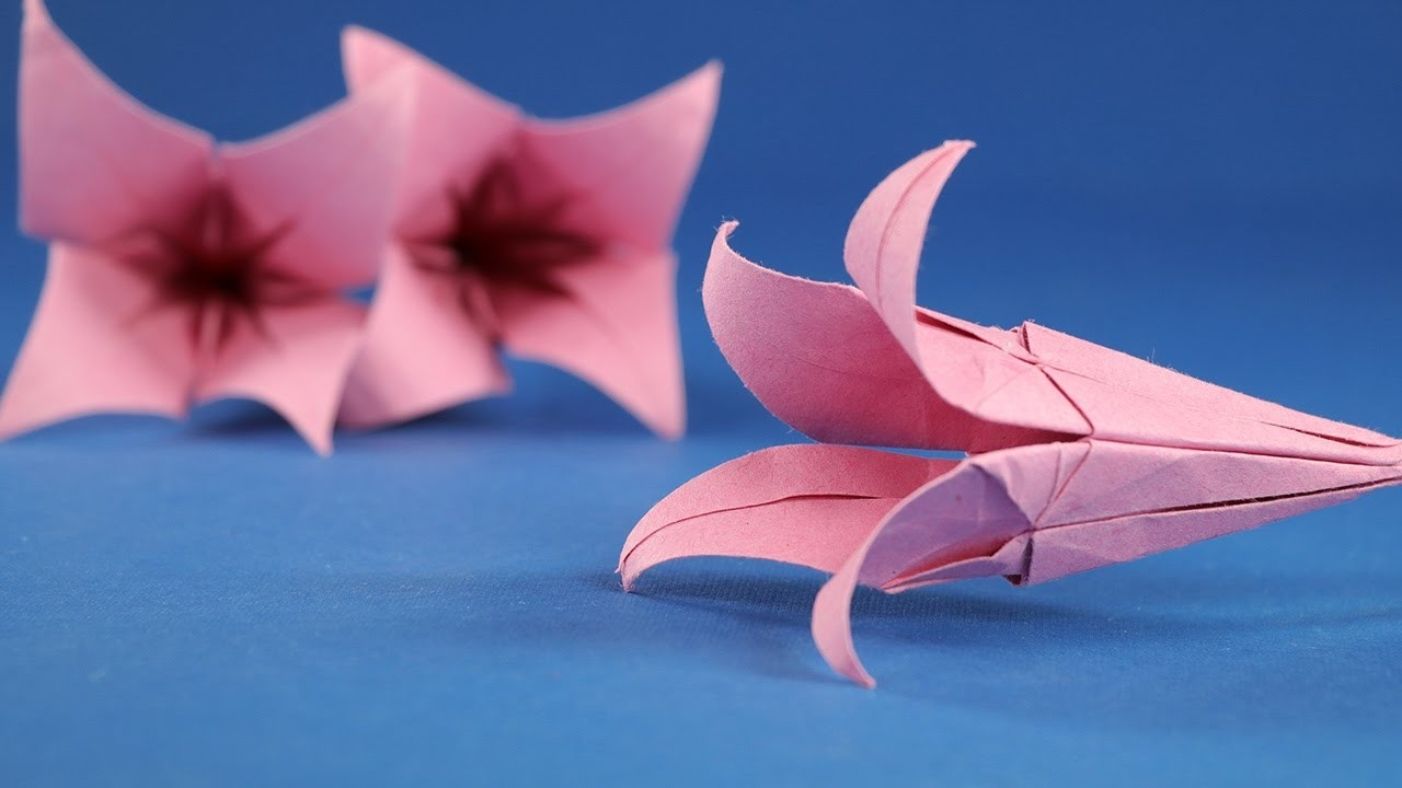 Craft Origami Flower Lily How To Make An Origami Flower Origami