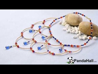 Pandahall Tutorial   How to Make Vintage Style Necklaces with Glass Beads and Seed Beads