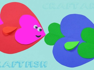 Paper Crafts for Kids  How to make Heart Shaped Fish ???? | Paper Quilling Art |