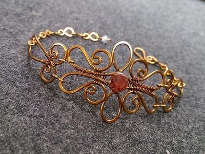 Wire bracelet - How to make wire jewelery 224