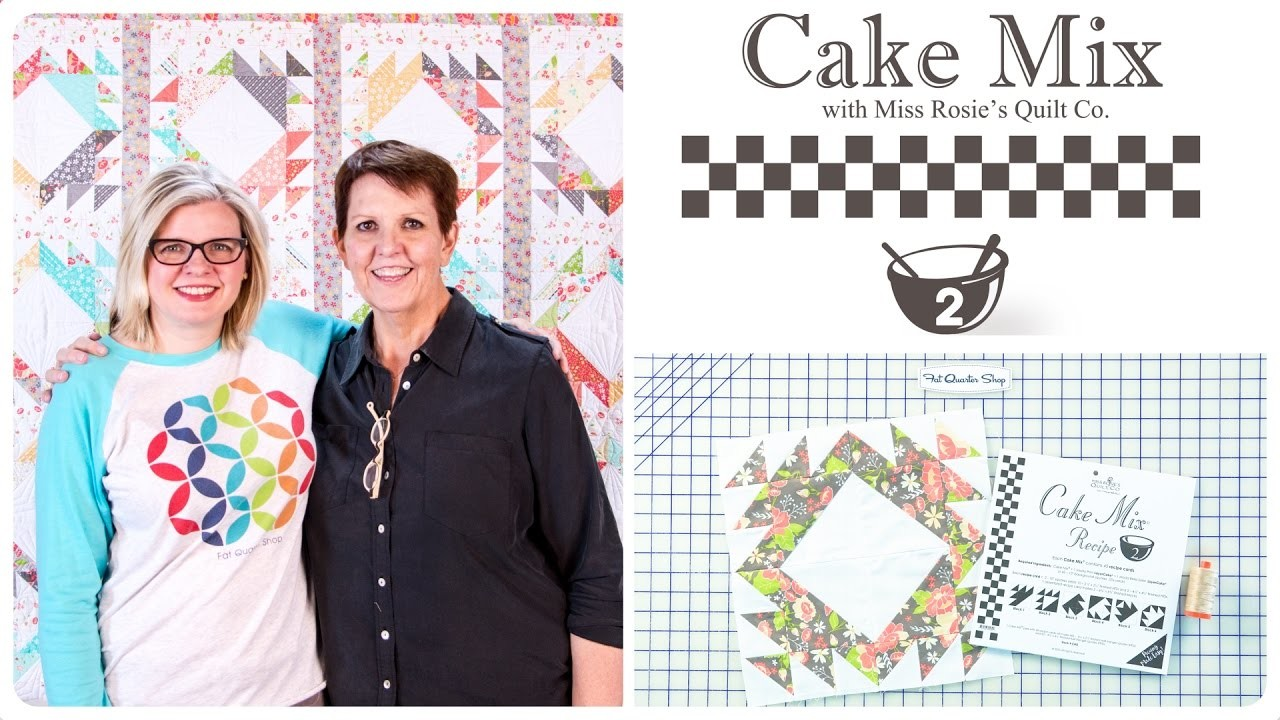 Cake Mix Recipe #2: Triangle Paper for Layer Cakes by Miss Rosie's Quilt Co. of Moda Fabrics: