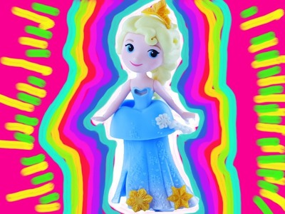 Disney Frozen Princess Elsa Statue Painting DIY with Olaf, Anna & Kristoff. Toy fun! Learn Colors.