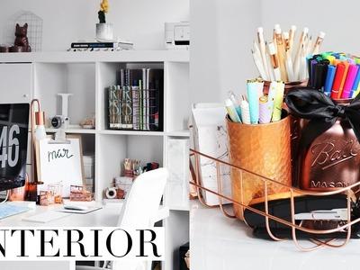 DIY Desk Decor & Organization Ideas 2017   Pinterest Inspired + GIVEAWAY