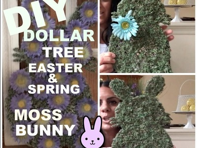 DIY DOLLAR TREE -Easter Bunny Moss Plaque-EZ Do-It-Yourself