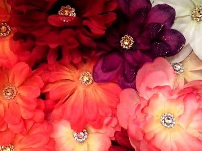 DIY Dollar Tree flower clips Room Decor |Beautiful flower clips using Dollar Tree flowers