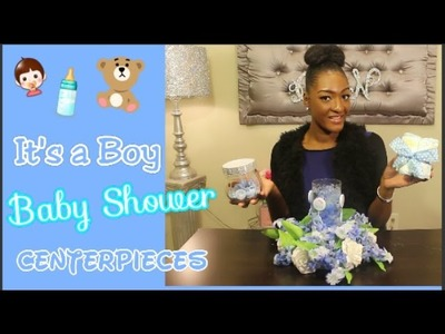 DIY Dollar Tree: It's A Boy ???????? Baby Shower Centerpieces | Diaper Cake | Floral Centerpiece