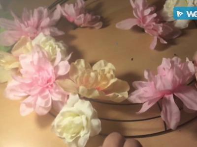 DIY Dollar Tree Spring Flower Wreath