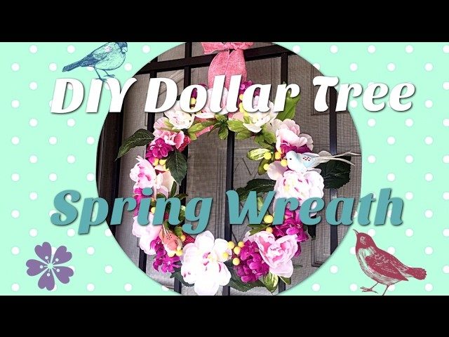 DIY Dollar Tree Spring Wreath