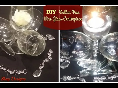 DIY: Dollar Tree Wine Glass Centerpiece