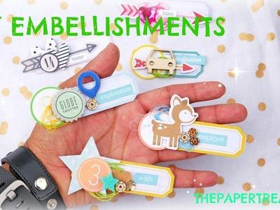 DIY EMBELLISHMENTS-USING UP EPHEMERA.DIECUTS