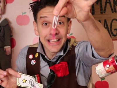 "DIY Magic Lesson #2 ""ninja paperclips"" • with Mario the Maker Magician"