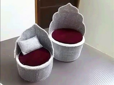 DIY - Make Singhasan (throne) made with recycled material easily at home.