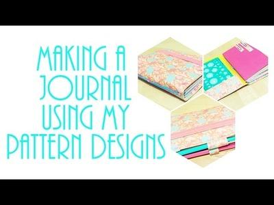 DIY Midori-style journal using my pattern designs!