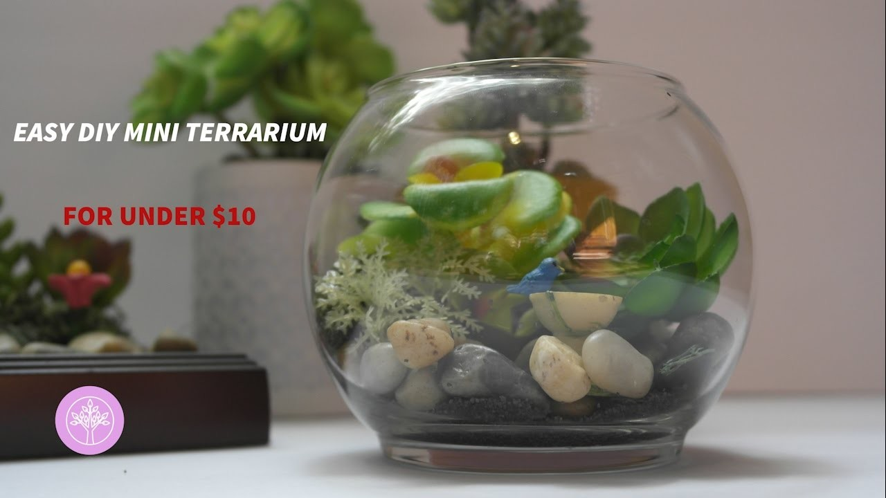 Diy mini faux terrarium for under 10 my crafts and diy for Dollar tree fish bowls