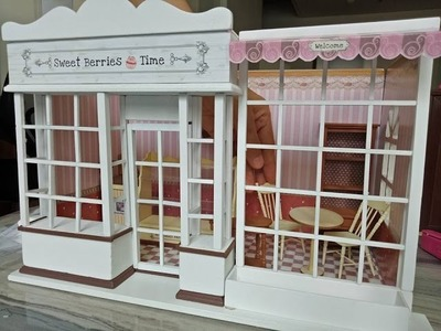 DIY Miniature Coffee Shop Part 3.Banggood Miniature Dollhouse w.working LED LIGHTS & Music