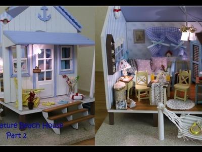 DIY Miniature Dollhouse Kit Beach House (Part 2)