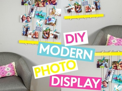 DIY Modern Photo Display