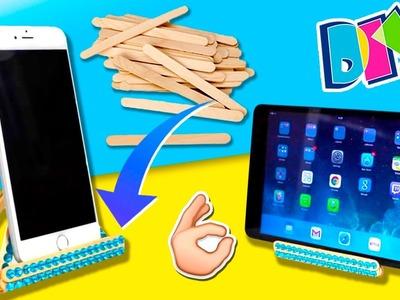 DIY RECYCLED Smartphone STAND * Soporte para MÓVIL con palitos de helado ✅  Top Tips & Tricks