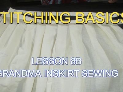 ✔ DIY STITCHING BASICS - LESSON 8B GRANDMA INSKIRT SEWING (பாட்டி பாவாடை எப்படி தைப்பது ?)