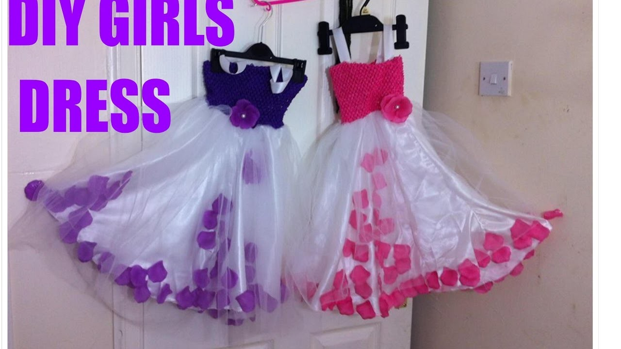 DIY Super easy girls dress in a tricky way for non tailor mothers