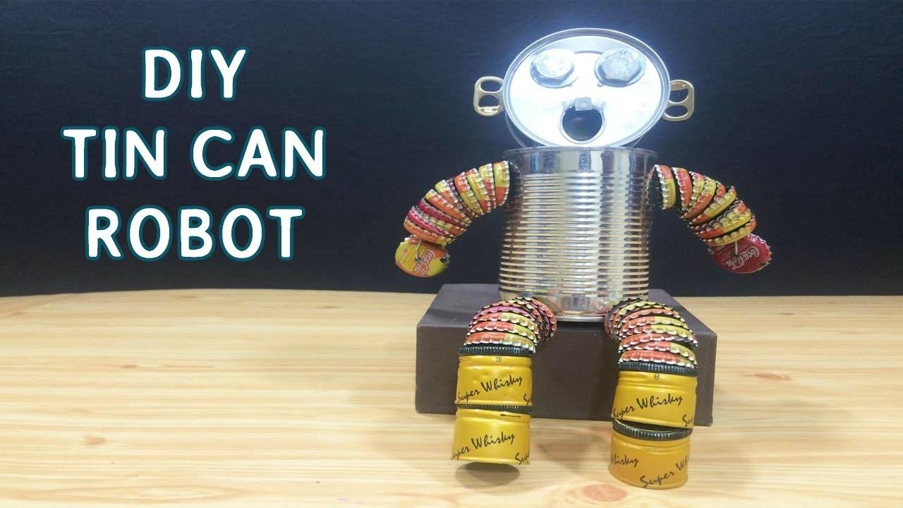 DIY Tin can Robot Toys for kids #8 | Crafts ideas