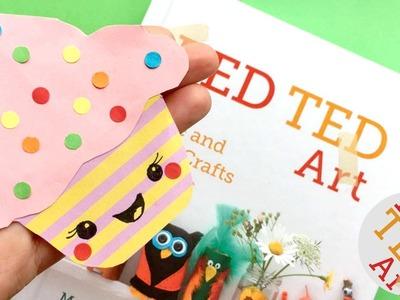 Easy Cupcake Bookmark Design - DIY Corner Bookmarks - Kawaii Paper Crafts DIYs