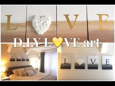 Easy L????VE D.I.Y Canvas