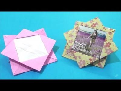 Easy Origami How to Make Photo Frame 简单手工折纸 相片框.簡単折り紙 写真フレームです
