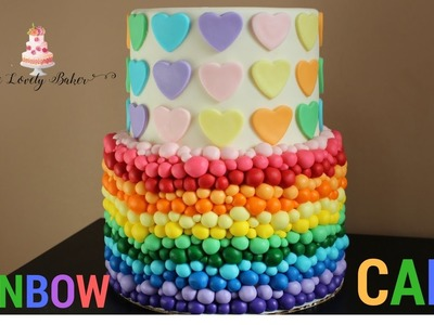 Easy Rainbow Heart Cake Tutorial!