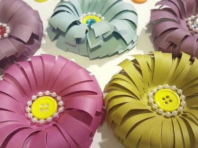EASY TO MAKE PAPER FLOWERS - DIY CRAFTS
